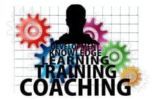 Mentaltraining - Stilisiertes Bild mit Schriften Coaching Training