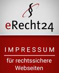 Das eRecht24 Siegel für ein rechtssicheres Impressum